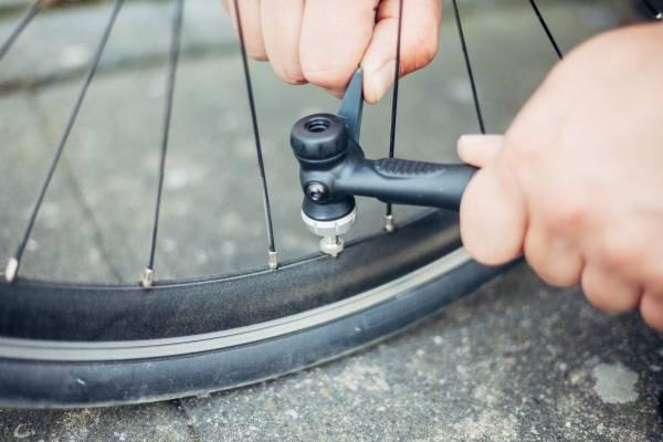 Fahrrad-aufpumpen